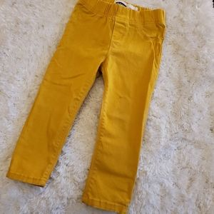 2t mustard yellow old navy jeggings